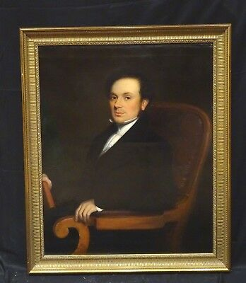Large 19th Century Portrait Of A Gentleman Holding A Book Sir Thomas Lawrence