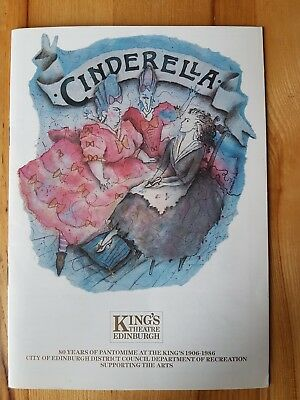 Kings Theatre Edinburgh Cinderella Programme 1987