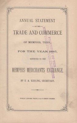 E. A. Keeling / Annual Statement of the Trade and Commerce of Memphis Tenn 1886