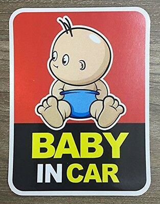 Brightt Set of x2 Baby On Board Safety Stickers for All Cars Trucks SUV