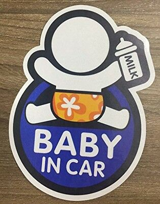 Brightt Set of x2 Baby On Board Safety Stickers for All Cars Trucks SUV orange