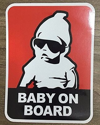 Brightt Set of x2 Baby On Board Safety Vinyl Sticker Decal Sign For All Cars