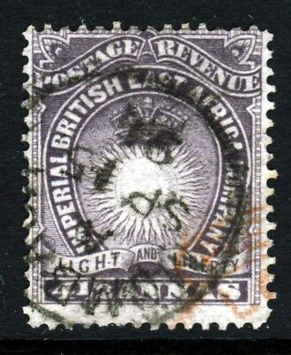 BRITISH EAST AFRICA KUT Queen Victoria 1893 4½ Annas Brown-Purple SG 11a VFU