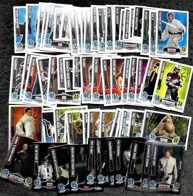 Bundle Lot of 60+ Star Wars Force Attax Series 1 Movie Cards Trading Cards 2012
