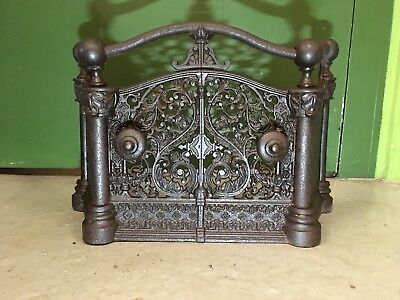 Antique Cast Iron Fireplace Tidy Betty - Hearth - Guard - Surround
