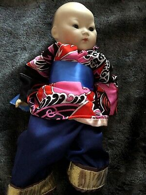 Antique vintage 12 inch porcelain chinese doll