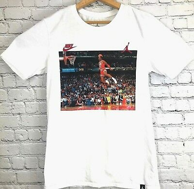 41ef337eb78 Michael Jordan t shirt Size Small S 1984 Dunk Contest EUC Rare graphic Tee