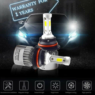 Car COB LED Headlight Bulbs Conversion Kit H1 H4 H7 72 W White 6000K Hi/Lo Beam