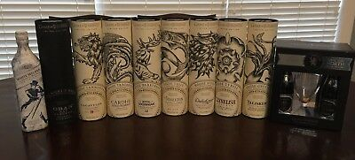 **RARE, COMPLETE SET!!** Limited Edition Game of Thrones Scotch Collection