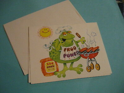 vintage Current fun frog blank note card (free ship $20 min)