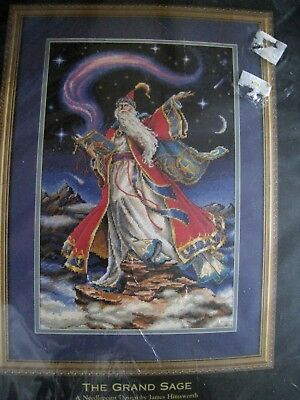 Dimensions GOLD COLLECTION Needlepoint PICTURE Kit,THE GRAND SAGE,2459,Wizard