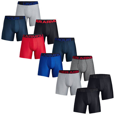 Under Armour Mens 2019 Tech 6in 2 Pack Soft Comfort Stretch Performance Boxers