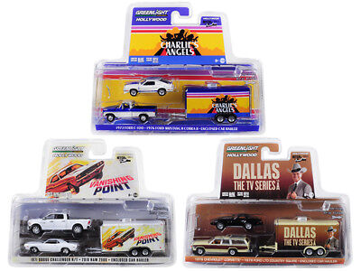Hollywood Hitch & Tow Series 6 Set Of 3 1/64 Diecast By Greenlight 31070-A-B-C