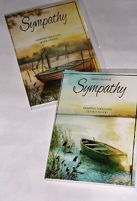 SYMPATHY CARDS' X 12, just 28p per card, FOILED,WRAPPED, (HS40