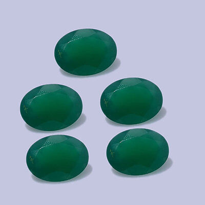 10pcs Wholesale Lot Of Green Onyx 8x6 MM Oval cut Stone Faceted Loose Gemstone