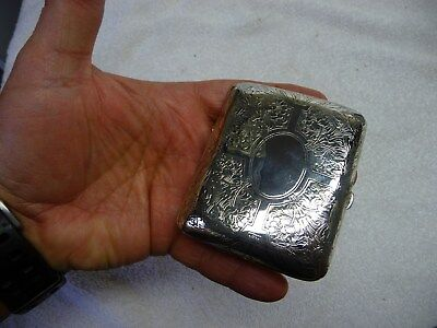 R Blackinton Sterling Silver 925 Cigarette Case Box Hand Chased 86g 1930s