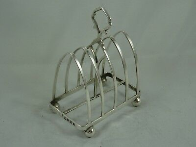 SMART, solid silver TOAST RACK, 1933, 115gm