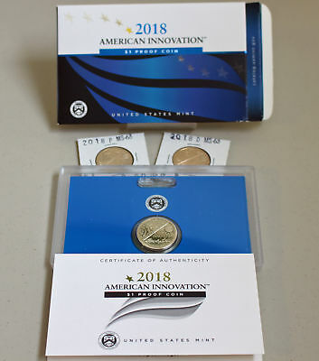 2018 PDS PROOF and UNCIRCULATED American Innovation Dollar $1 3 Coins New Series