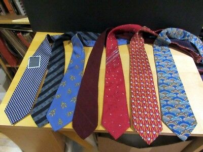 Mixed Lot of 7 Vintage Ties LANVIN, CHOPARD, CC (WATCH BRAND), JACQUES LEONARD