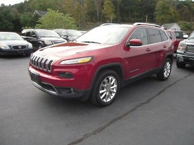 2014 Cherokee Limited 4x4 4dr SUV 2014 Jeep Cherokee Limited 4x4 4dr SUV 3.2L V6 Automatic 9-Speed Burgundy