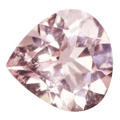 1.42Ct Shimmering Pear cut 8 x 8 mm 100% Natural Pink Morganite
