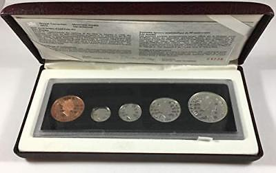 1908-1998 Canada 90th Anniversary Antique Silver 5-Coin Silver Proof Set OGP