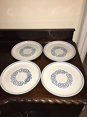 "Denby Langley Blue Dinner plates 10"" X4"