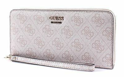 GUESS Landon SLG Large Zip Around Geldbörse Floral Multi Gelb Violett Neu