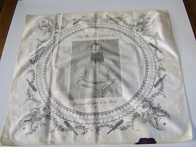 1800S Extremely Rare Dr. W G Grace Table Cover Wall Hanging Cricket Memorabillia