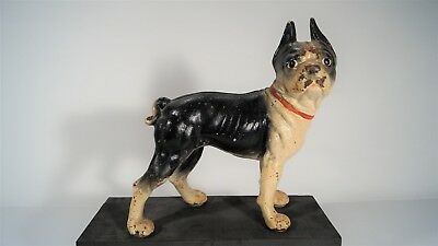 Antique 20th Century National #149 Boston Bull Figural Boston Terrier Doorstop