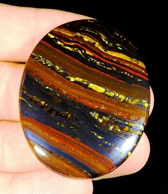 109Ct Top Quality  Natural Gold  Fire Red Iron Tiger Oval Cabochon  Gemstone F80