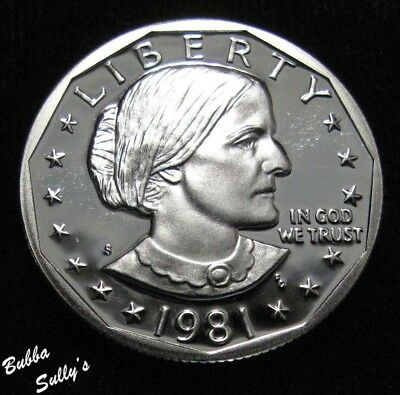 1981 S Type II Susan B Anthony Dollar <> PROOF
