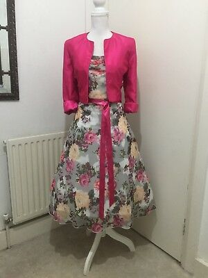 Beautiful Anna Rose Mother Of The Bride/evening Dress And Bolero Size 16