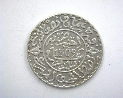 Morocco Ah1309 Silver 2-1/2 Dirhams  Gem+ Uncirculated Y#6