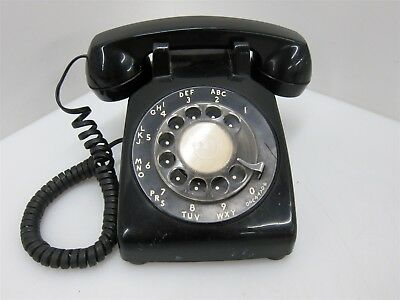 Vintage Western Electric Bell Black Rotary Desk Telephone