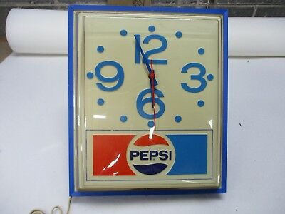 Vintage 1977 Pepsi Cola Electric Clock 16x13 Grimm Industries Erie PA
