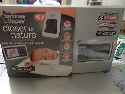 Tommee Tippee Closer To Nature Digital Video, Movement Pad Sound Monitor as  new
