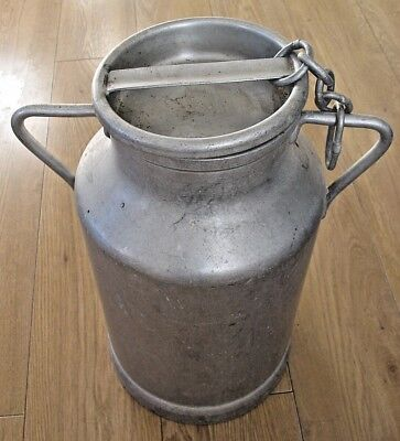 Vintage JAPY French Aluminium Double Handled Milk Water Churn complete with lid