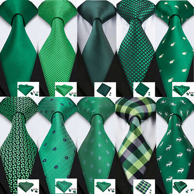 Details about  /USA Men/'s Tie Ties Green Self tie Bow tie Set Lot Silk St.Patrick/'s Day Gift HOT