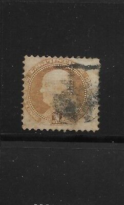US Scott #112 used 1c buff Franklin 1869 Pictorial issue hand stamp f/vf sound