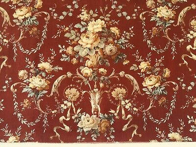 Beautiful 19th C. French Printed Cotton Floral Fabric  (2556)