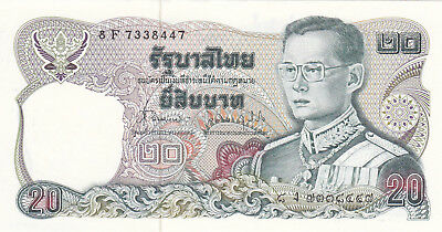20 Baht Aunc-Unc Banknote From Thailand 1981-85!pick-88