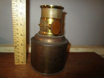 Antique Brass Petzval type rack and pinion Magic Lantern lens . See others  (5)