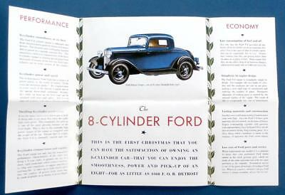 1932 FORD Christmas Card Sales Brochure Repro