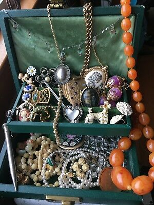 Antique & Vintage Jewelry Lot Sterling Silver, Art Deco, Victorian Gorgeous