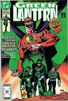 green lantern issue 19 from 1991 5oth annivesary signed by martin nodell