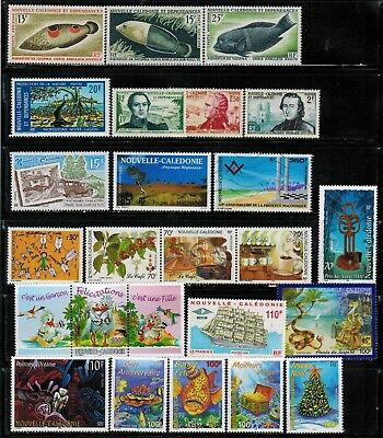 Lot of New Caledonia Year 1988 to 1995 Stamps MNH
