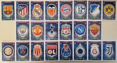 Match Attax Champions League 2018/19 Complete Team Sets 18 Cards Mint