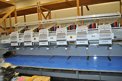 Highland CX1506 15 Needle 6 Head Embroidery Machine - Works Great