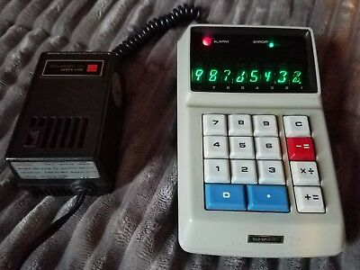Rare Vintage Sharp EL-8 Calculator with Power Adapter Fully Functional EUC Cases